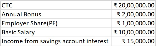 Salary and Tax CalculationTax Salary details